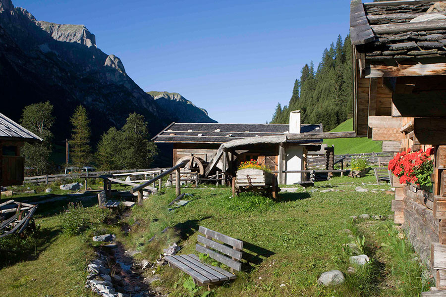Landscape summer mill village