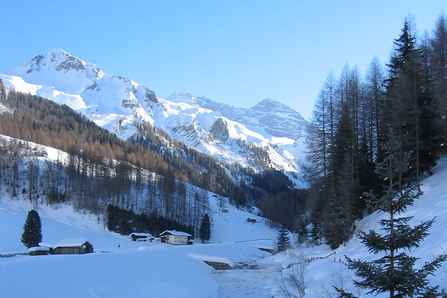 Winter landscape valley