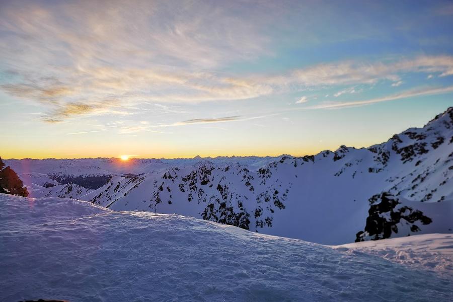 Kaunertaler-Gletscher-Sonnenuntergang-Falginjoch