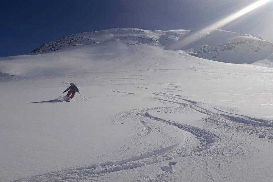 Deep snow Kaunertal Glacier