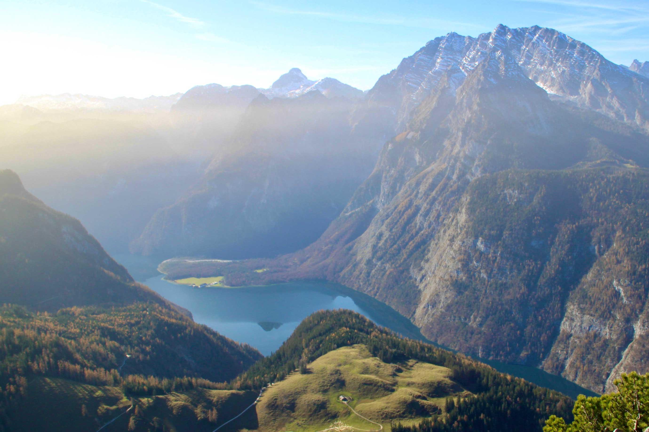 Blick vom Jenner ins Berchtesgadener Land
