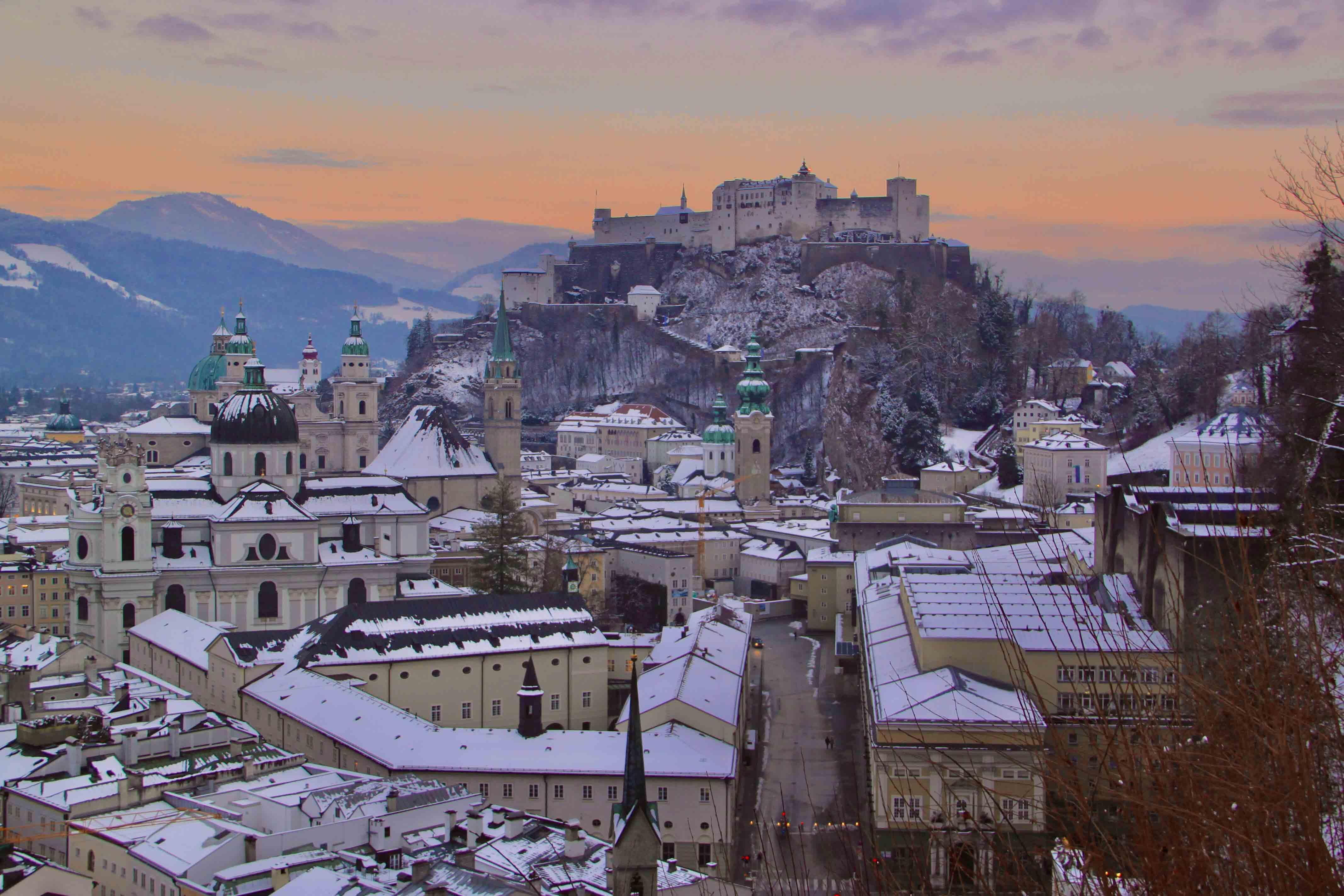 Salzburg als Wintermärchen