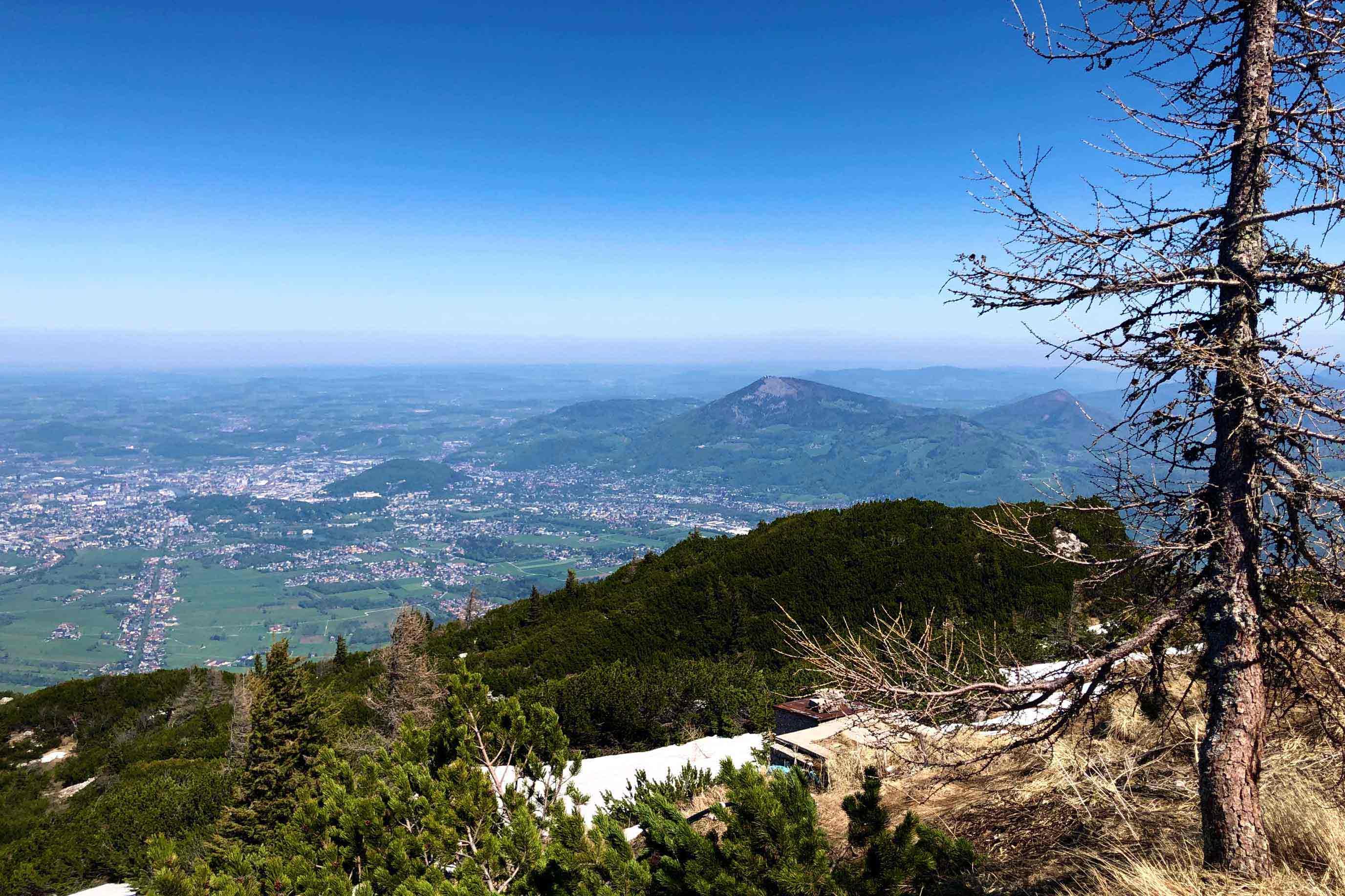 Aussicht vom Unstersberg nach Salzburg