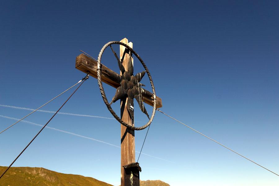 Gipfelkreuz in Tux Grübelspitze