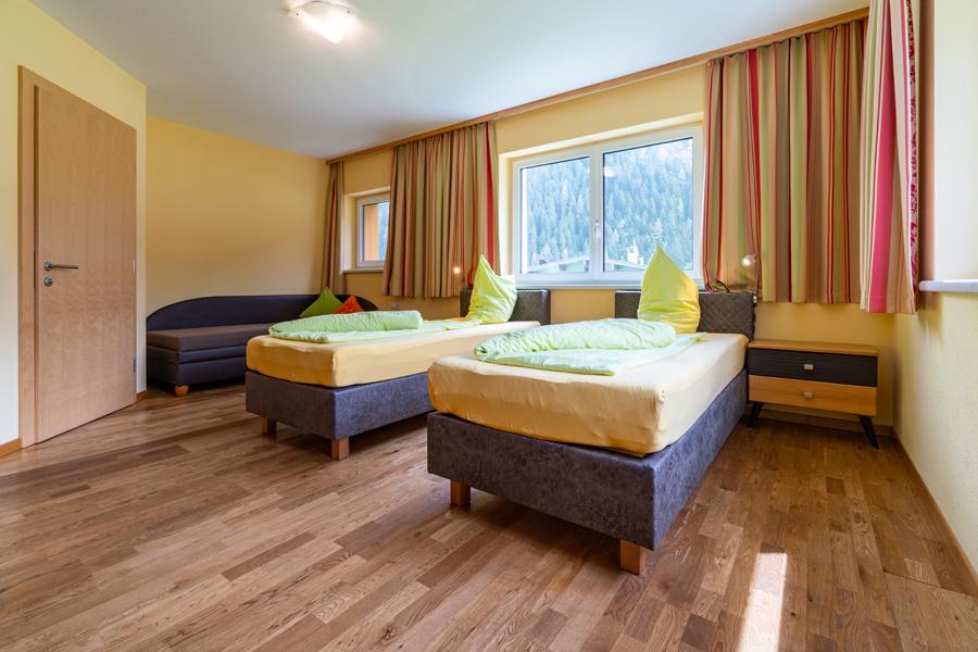 alle Schlafzimmer mit getrennten Betten möglich