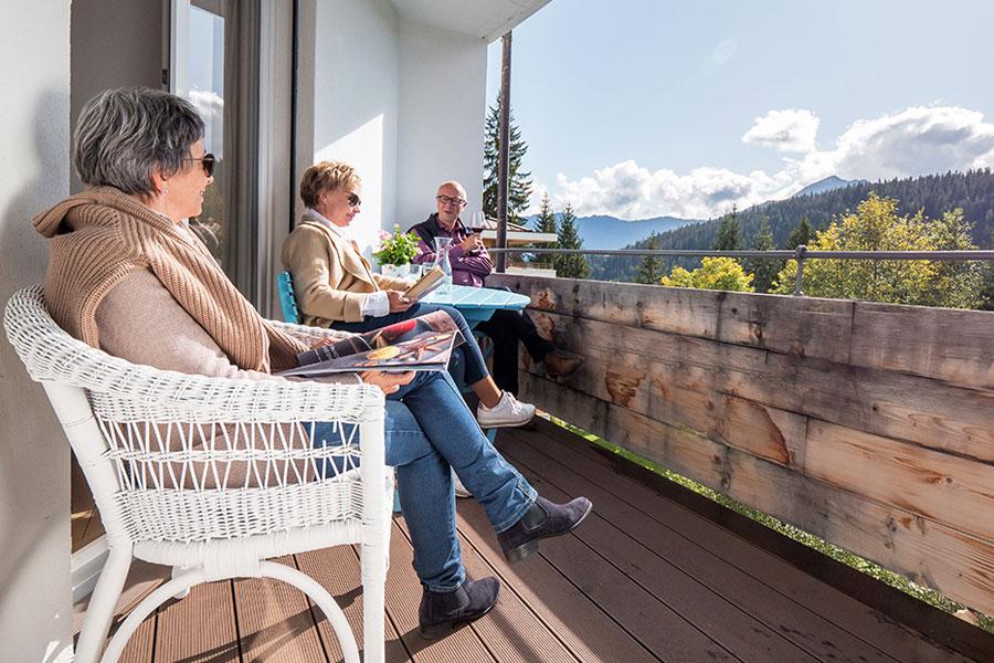 Schön auf unseren Terrassen!